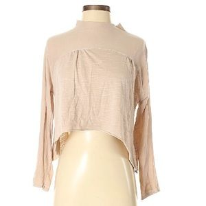 Ecote/Urban Outfitter long-sleeve crop mock top-S